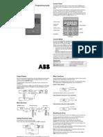 ABB ACS100 ProgramManual