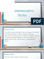 Communicative Styles PPT