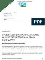 UV Disinfection vs. Hydrogen Peroxide_ A Comparison