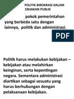 KONTROL POLITIK BIROKRASI DALAM KEBIJAKAN PUBLIK
