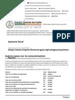 Autres taxes sur la consommation - Impôts BENIN