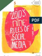 2010's Nine Reules of Social Media  (Radian6 dec2010 book)