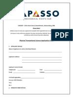 CAPASSO OCW Application Form 2020