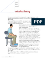06. Evening foot soaking technique - Sahaja Meditation Handout v1.2