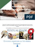 Textualidade – critérios e princípios