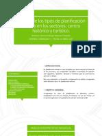 Análisis de los tipos de planificación urbana. Gerson Rodrigo Valencia