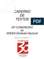 Caderno de Textos Congresso Andes 2011