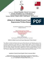 Affidavit of Allodial Land-Property Repossession-Template