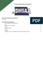 NDHSAA Sport Restart Recommendations