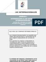 COMPRAS INTERNACIONALES UNIDAD I
