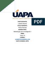 TAREA I-A METODOLOGIA DE LA INVESTIGACION I.docx