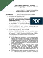 ESPECIFICACIONES TECNICAS  SERVICIO DE   MONTAJE  DE LOS TEJIRALES