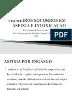 PRIMEIROS SOCORROS EM ASFIXIA E INTOXICAÇAO