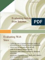 Evaluating teh Internet