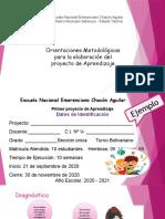 Proyecto de Aprendizaje y evaluación