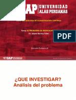 SEMANA 4 EL PROBLEMA DE INVESTIGACION