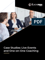 Case studies - live events and one on one coaching
