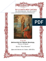 25 de julio.  Santiago Apóstol. Guía para la santa misa cantada. Kyrial Fons Bonitatis