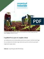 Legalidad fresca para la campiña cubana - Articulo sobre decreto ley 358