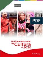 Politica de Cultura Peru