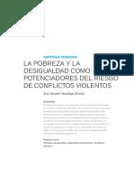 La pobreza y la desigualdad como potenciadores del riesgo de los conflictos armados - Sanahua