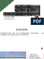 Constitucion de SA, nombre y objeto