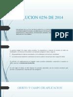 RESOLUCION 0256 DE 2014