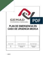 Procedimiento en caso de Urgencia Medica.