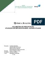Relatório de Química Analítica: