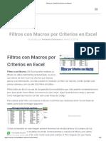 Filtrar por Criterios en Excel con Macros