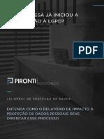 LGPD - Relatório de Impacto à Proteção de Dados Pessoais (RIPD)