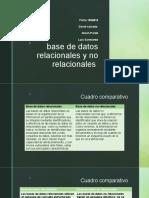 base de datos relacionales y no relacionales