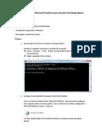 Procedimento de Configuração do Microsoft Outlook para servidor Exchange Bamin