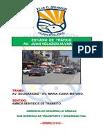 ESTUDIO DE TRANSITO AV. JUAN VELAZCO ALVARADO (PRESENTADO A ING. REYES ENERO 2013) AJUSTADO (21 M
