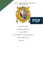 INFORME DE LABORATORIO DE CIRCUITOS ELECTRONICOS   S1