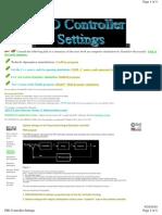 PID Controller Settings Setup