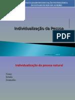 Aula 04 - Individualização da Pessoa