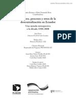 Actores, procesos y retos de la descentralización en Ecuador