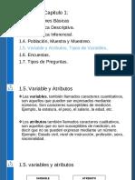 1.5. Variable y Atributos. Tipos de Variables