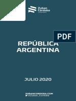 Informe Nacional Julio 2020 Con Analisis