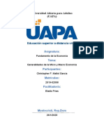 (Generalidades de la Micro y Macro Economía) Tarea II