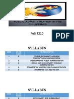 PHILIPPINE PUBLIC ADMINISTRATION