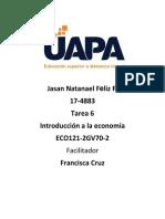 Tarea 6 Introduccion a La Economia