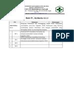 Kriteria 4.1.1