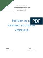 Identidad politica de venezuela