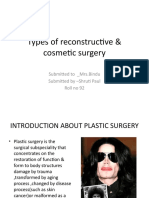 Types of reconstructive & cosmetic surgery