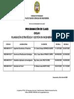 PROGRAMACIÓN DE CLASES PROYECTOS