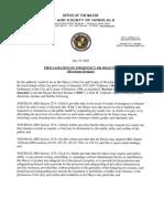 Proclamation of Emergency  Disaster Hurricane Douglas