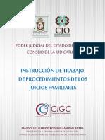 INSTRUCCION DE TRABAJO DE PROCEDIMIENTOS DE LOS JUICIOS FAMILIARES