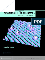 Supriyo Datta-Quantum Transport-Cambridge University Press (2005)
